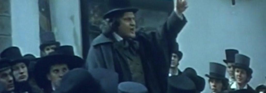 Pavle Ravnohrib kot Prešeren (zajem zaslona)